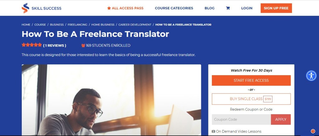 Best freelancer course - How To Be A Freelance Translator - Skill Success