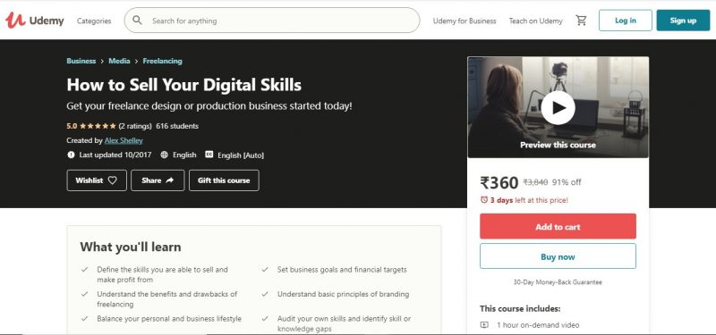 How to Sell Your Digital Skills - Best freelancer course to grow their business