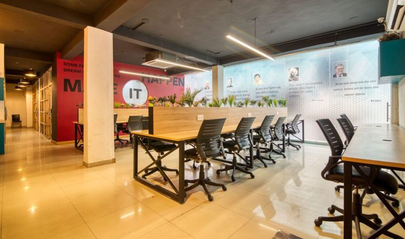 myHQ: Kinnoti hub coworking space in Mohan Estate