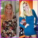 Left: May 2011 (9 months on prednisone) Right: January 2013 (my normal weight and no moonface!)