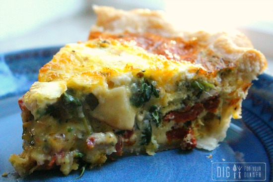 Sundried Tomato and Spinach Quiche