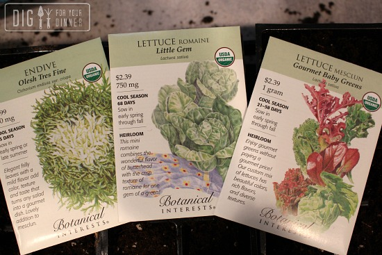 lettuce botanical interests seed packets