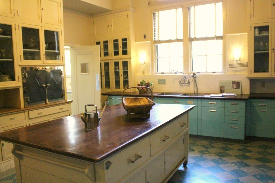 Filoli Mansion kitchen huge center island
