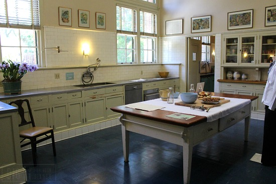 Filoli Mansion kitchen large center island