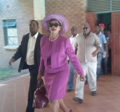 Former Chongwe Mp Sylvia Masebo at masebo at court