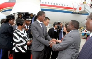 President Edgar Lungu with Foriegn Affairs minister Harry Kalaba