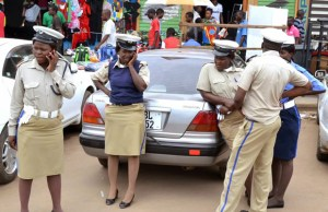 Zambia's Traffic police officers in Lusaka
