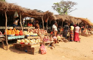 Marketeers in Kabwe: File picture