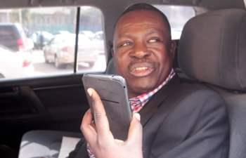 Rainbow party leader Wynter Kambimba in Lusaka-picture by Tenson Mkhala