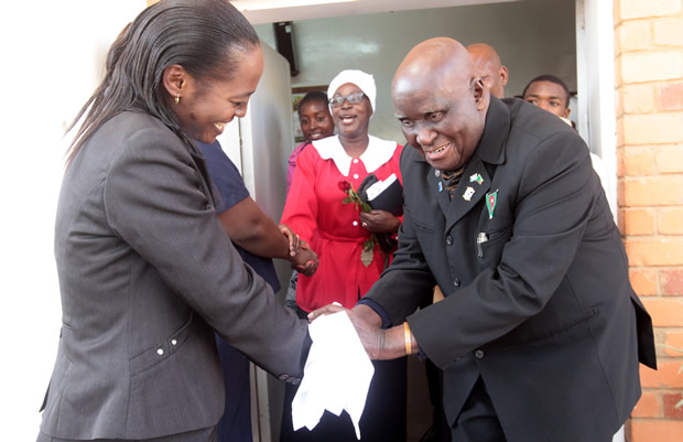 Dr Kenneth Kaunda at Lusaka's St Pauls UCZ Church-Picture by Tenson Mkhala