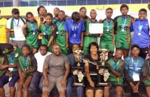 Handball women's national team with HAZ officcails