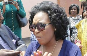 Oracle Media Productions Managing Director Mutinta Mazoka M'membe at Police Headquarters-Picture by Tenson Mkhala