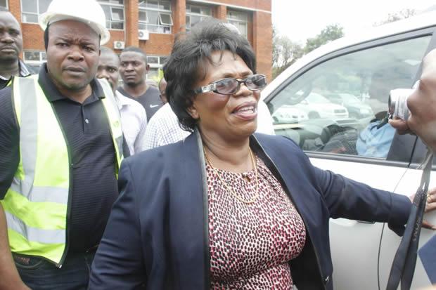 Nkandu Luo at High Court after losing her Munali seat-Picture by Tenson Mkhala
