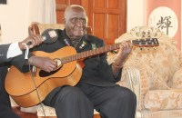 Dr Kenneth Kaunda at his house in Lusaka-Picture by Tenson Mkhala