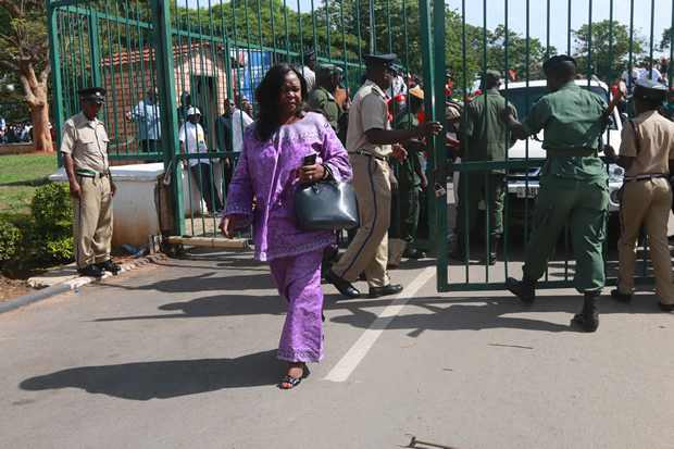 Maureen Mwanawasa at Lusaka High Court-Picture by Tenson Mkhala
