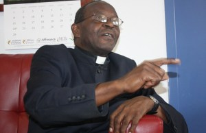 Archbishop of Lusaka Telesphore Mpundu in Lusaka-Picture by Tenson Mkhala