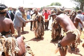 Former President Rupiah Banda at the 2016 N'cwala in Chpata-picture by Tenson Mkhala