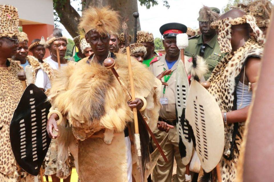 Paramount chief Mpezeni in Chipata during 2016 N'cwala-picture by Tenson Mkhala