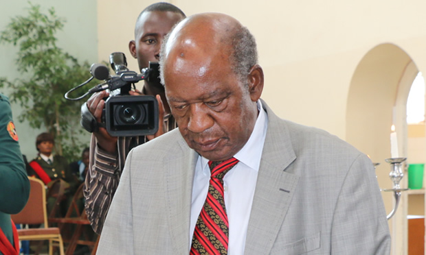 Former Finance Minister Alexander Chikwanda in Lusaka-Picture by Tenson Mkhala