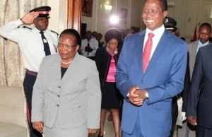 President Edgar Lungu with Irene Mambilima at State House