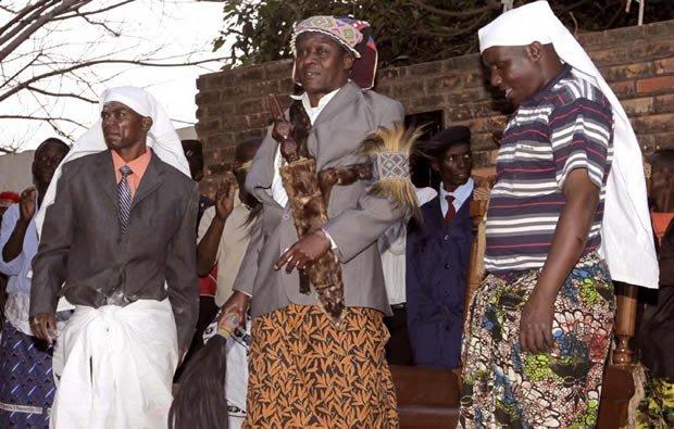 Senior Chief Mwata Kazembe of the Lunda people in Mwansabombwe-Picture by Tenson Mkhala