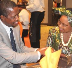 President Edgar Lungu with Mama Kankasa in Lusaka-Picture by Tenson Mkhala