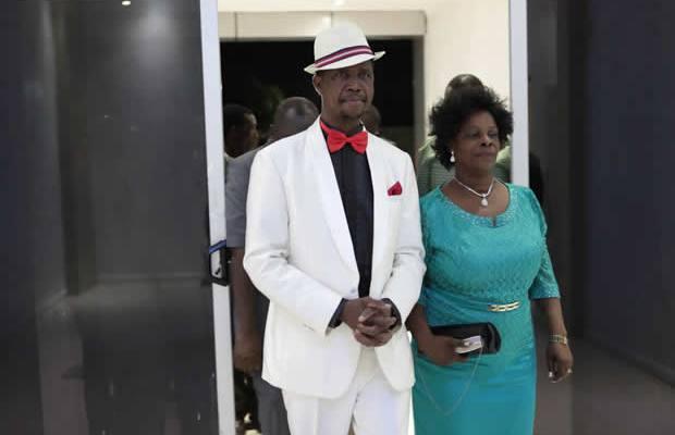 President Edgar Lungu with wife Esther