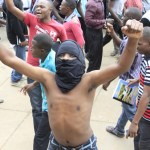 UNZA students during protest at the main campus in Lusaka last year - Picture by Tenson Mkhala