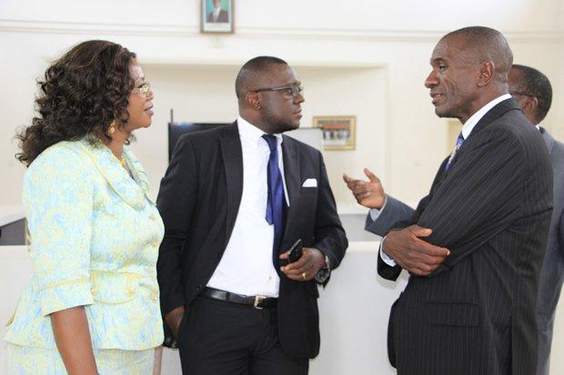 Former Chongwe MP Sylvia Masebo, Mazambuka Central MP Garry Nkombo ( c) and Andrew Banda in Lusaka-Picture by Tenson Mkhala
