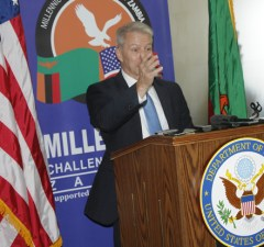 American Ambassador to Zambia Eric Schultz in Lusaka-picture by Tenson Mkhala