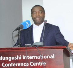 Lawyer John Sangwa in Lusaka-picture by Tenson Mkhala