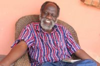 Former defence minister Goerge Mpombo in Lusaka-picture by Tenson Mkhala