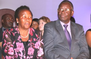 Former Health Minister Francis Kasonde with wife in Lusaka-Picture by Tenson Mkhala