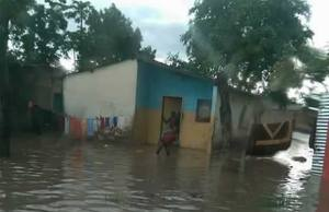 House in Lusaka's Misisi Compound almost submerged in water leaving occupants stranded due to lack of drainage : File picture