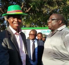 President Edgar Lungu with former Information minister Chishimba Kambwili