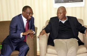 FAZ President Andrew Kamanga and CAF U-20 Africa Cup of Nations Organising Committee President Amadou Diakite.