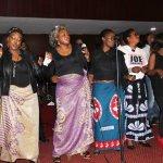 Zambian artist celebrates the life of late Joe Chibangu at Lusaka's Mulungushi Conference Center yesterday