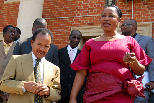 Former President Frederick Chiluba and wife Regina leaving the Lusaka High Court after adjournment of judgment in her appeal case October 29, 2010: file picture