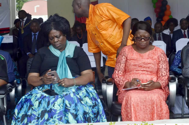 Lands and Natural Resources minister Jean Kapata (l) at Womens day celebration in Lusaka-picture by Tenson Mkhala