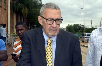 Former vice-president Dr Guy Scott at Lusaka Magistrates Court -picture by Tenson Mkhala