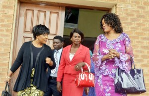 Former Chongwe MP Sylvia Masebo with Oracle Media Productions Managing Director Mutinta Mazoka M'membe at Court-picture by Tenson Mkhala