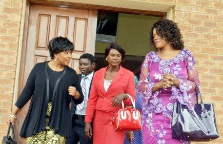 Former Chongwe MP Sylvia Masebo with Oracle Media Productions Managing Director Mutinta Mazoka M'membe at Court-picture by Tenson Mkhala