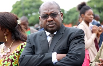 Health minister Dr Chitalu Chilufya during Youth Day celebrations in Lusaka-picture by Tenson Mkhala