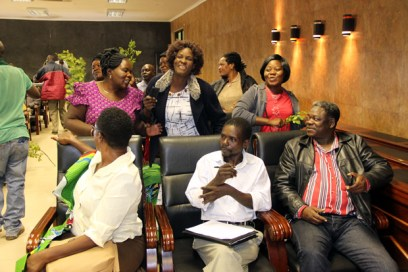FDD members during the launch of 'The Save FDD Committee' at Lusaka's Courtyard Hotel-picture by Tenson Mkhala