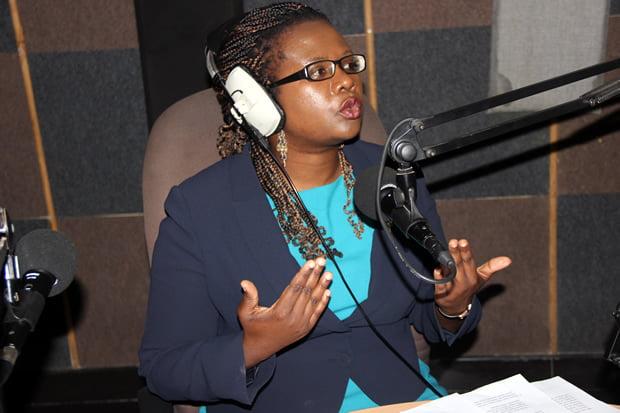 LAZ president Linda Kasonde during Hot Issue program on Hot FM-picture by Tenson Mkhala