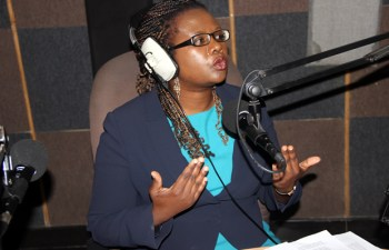 LAZ president Linda Kasonde during Hot Issue program on Hot FM-picture by Tenson Mkhala