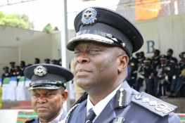 Inspector General of Police Kakoma Kanganja at the 2017 Police Day at the Lusaka showgrounds on March 4 - Picture by Joseph Mwenda