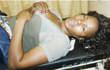 Komboni Radio director Lesa Kasoma nursing injuries at UTH after being beaten by police: file picture