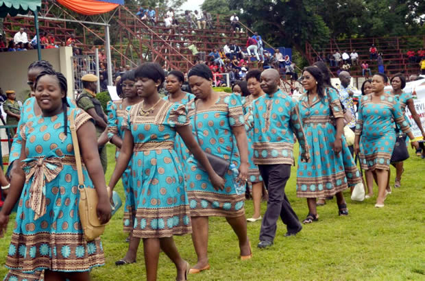 Women march during the 2017 International Womens Day celebrations in Lusaka-picture by Tenson Mkhala