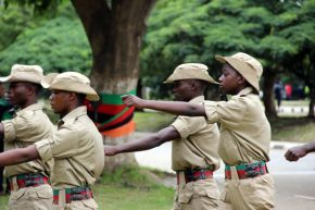 Zambia cadets match during Youth Day celebrations in Lusaka-picture by Tenson Mkhala